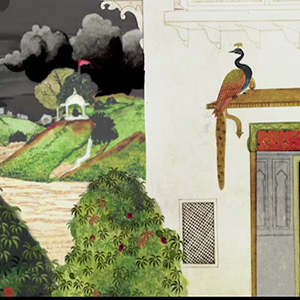 Indian miniature painting based animation
